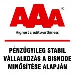 Bisnode Aaa tanusítvany a pénzügyileg stabil cégeknek
